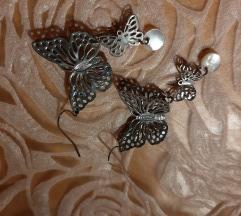 Leptira viseće naušnice