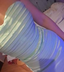 Tirkizna rebrasta haljina (m vel.)