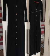 Bershka crna midi haljina