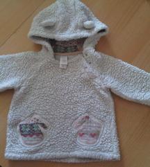 Topla mekana flis vesta/jaknica za bebe