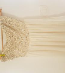 Bijela haljinica bez naramenica Zara
