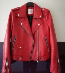 Mango crvena biker jakna