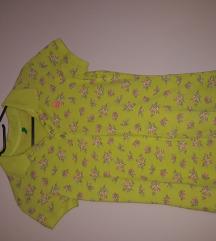Zelena cvjetna majica sa ovratnikom