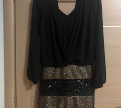 CRNA haljina sa šljokicama, novogodišnja