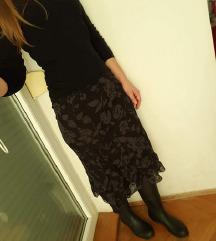 H&M rayon midi cvjetna suknja, kao nova