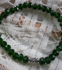 Zelena narukvica srebro