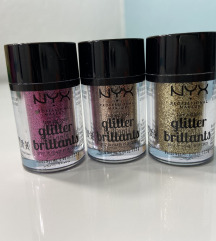 3 Nyx Glitter-a