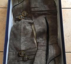 Caprice čizme od brušene kože