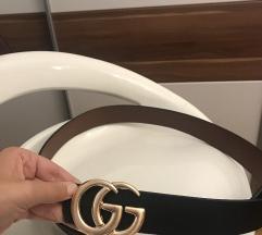 Gucci remen sa dvije strane crna i smeđa