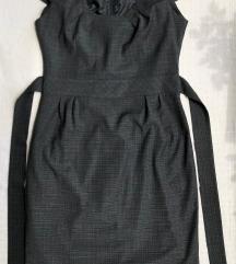 Tamnosiva strukirana poslovna haljina