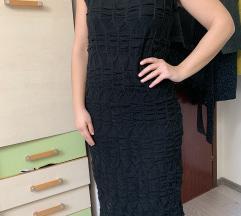 Crna midi haljina L