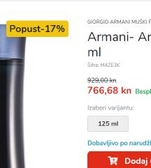 Armani code original 125 ml