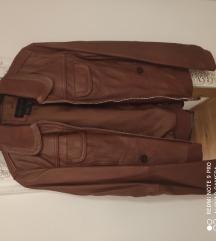 MNG prava koža retro  jakna