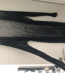 Crna mrezasta haljina za plazu
