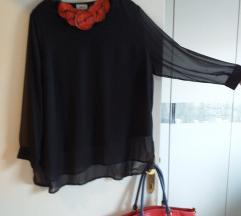 Nova crna tunika s prozirnim rukavima XXL