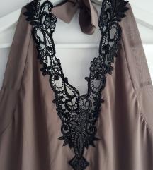 Duga haljina s volancicima - Mango 🍁