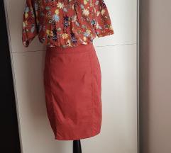 Nova pencil suknja meso boje