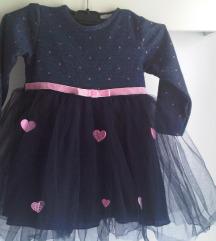 Svečana haljinica s tilom Baby rose 92/98