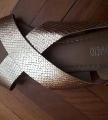 Sandale zlatne 38