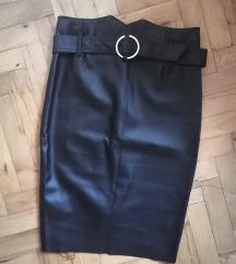 Kožna suknja (cijena s pt)