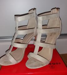 Ljetne beige sandale na petu