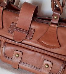 NOVA GULIVER konjak-smeđa kožna torba