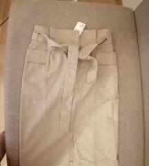 h&m suknja visok struk, 44