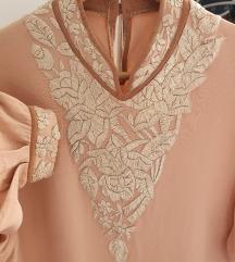 vintage predivna svilena bluza