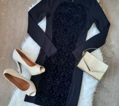 H&M crna uska haljina