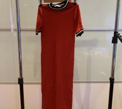 Midi crvena uska haljina
