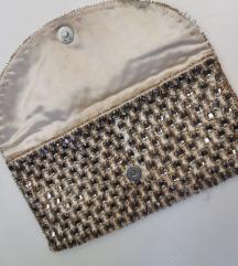 Zlatna torbica s kristalicima