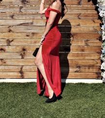 Crvena velvet (barsun)  svecana haljina