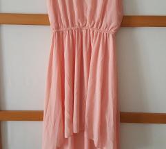 nova, roza, asimetrična haljina