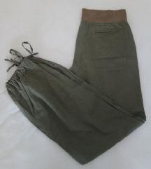Tamnozelene široke hlače