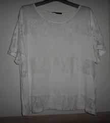 ATMOSPHERE bijela čipkasta majica vel.46
