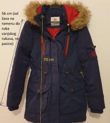 Tamnoplava topla zimska jakna (pt u cijeni)