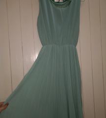 Svijetlo zelenkasta svecana haljina