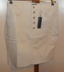 nova bijela traper suknja, s etiketom, br.46
