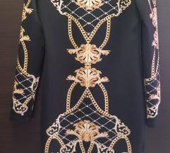 Haljina dugi rukav crna s detaljima
