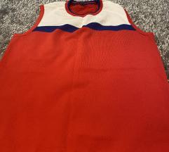 %Benetton pulover bez rukava crveno bijeli%