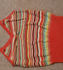 H&M šarena prugasta majica crop top