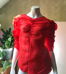Crvena majica tričetvrt rukava