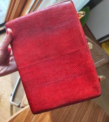 Vintage bordo torba od pravog reptila