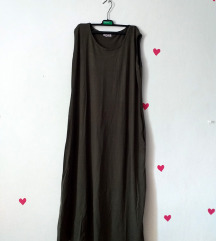 NOVA ljetna zelena duga oversized haljina