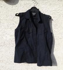 Crna košulja s epoletama L bez rukava
