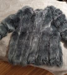 Luksuzna siva bunda NOVA