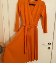 Nova narančasta midi haljina