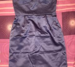 Kratka plava svečana haljina