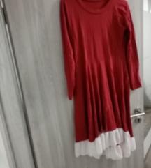crveno bijela haljina
