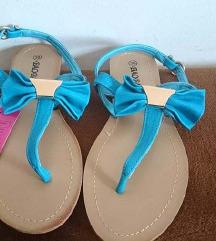 NOVE plave niske ljetne sandale
